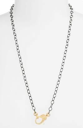 JANE BASCH DESIGNS Jane Basch Pave Diamond Clasp Long Chain Necklace