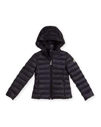 Moncler Iraida Hooded Lightweight Down Puffer Jacket, Size 4-6 $395 thestylecure.com
