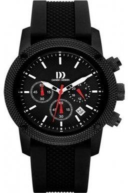 Danish Design (ダニッシュ デザイン) - デンマークデザインiq13q1020メンズすべてブラッククロノグラフウォッチ
