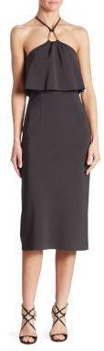 Trina Turk Soozy Popover Neoprene Halter Dress $438 thestylecure.com