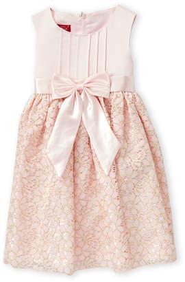 Princess Faith (Toddler Girls) Bow Crochet A-Line Dress