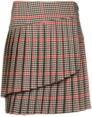 P.A.R.O.S.H. checked pleated skirt
