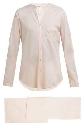 Hanro Deluxe Cotton Pyjamas - Womens - Light Pink