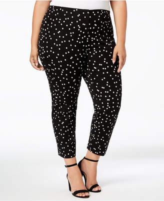 Alfani Plus Size Printed Skinny Pants, Created for Macy's