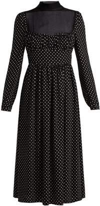 Valentino Polka dot-print silk dress