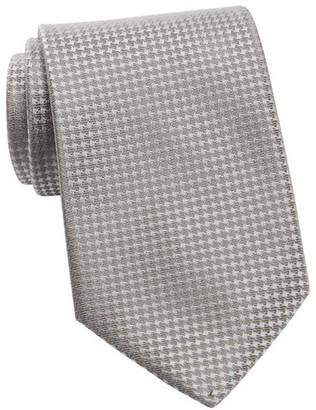 Calvin Klein Silk Modern Gingham Tie $65 thestylecure.com