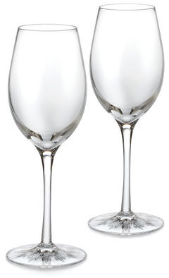 Clearly Waterford Light White Wine, Pair