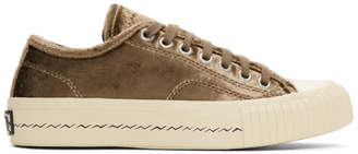 Visvim Brown Velvet Skagway Sneakers