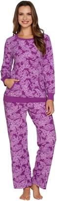 Carole Hochman Petite Waffle Fleece Novelty Pajama Set