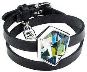 Uno de 50 Refresh Crystal and Silver Double-Wrap Bracelet