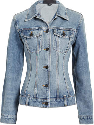 Alexander Wang Seamed Light Denim Jacket