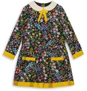 Gucci Little Girl's& Girl's Floral-Print Silk A-Line Dress