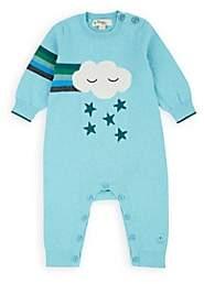 The Bonnie Mob Infants' Graffiti Intarsia-Knit Cotton-Cashmere Playsuit - Blue