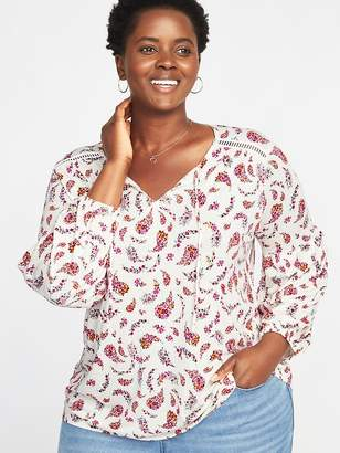 Old Navy Floral-Paisley Plus-Size Jersey Top