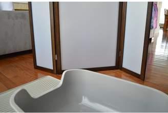 "Winston Porter 36"" x 46"" Atlanta Cat Litter Box Privacy 3 Panel Room Divider"