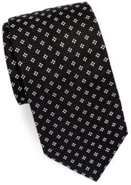 Brioni Silk Tie With Mini Dot Detail