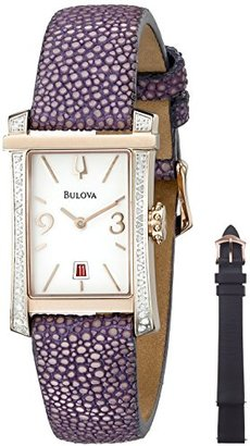 Bulova Women's 98R197 Analog Display Quartz Purple Watch $291.30 thestylecure.com