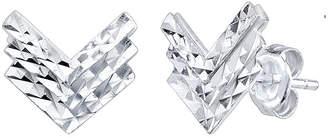 Unwritten Chevron Stud Earrings in Sterling Silver