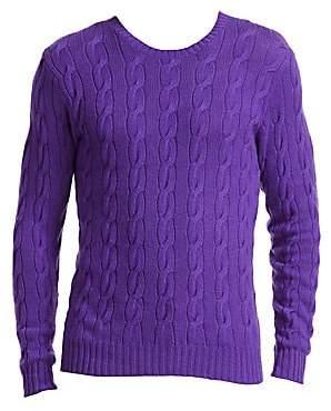 Ralph Lauren Purple Label Men's Cable Knit Cashmere Sweater