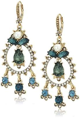 Marchesa Women's Gold/ Multi Shaky Drop Earrings