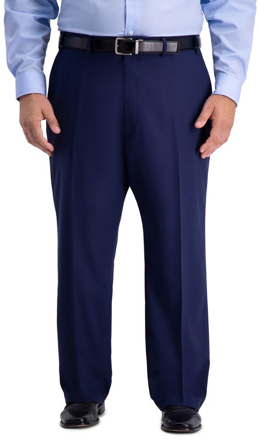 Haggar Big & Tall Active Series Classic-Fit Herringbone Suit Pants