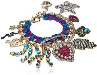 Betsey Johnson Mystic Baroque Queens Gold and Woven Statement Charm Bracelet