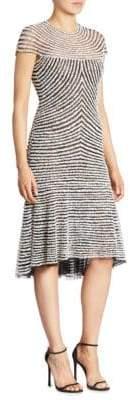 Naeem Khan Stripe Sheath Dress