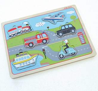 Jammtoys wooden toys Transport Sounds Wooden Puzzle