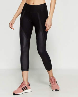 90 Degree By Reflex Shimmer High Peak Capri Leggings