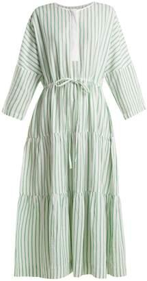 WIGGY KIT Drawstring cotton-blend maxi dress