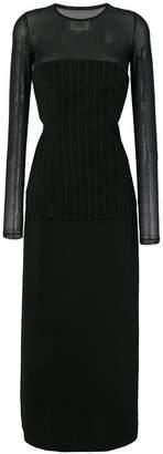 MM6 MAISON MARGIELA long-sleeved layered dress