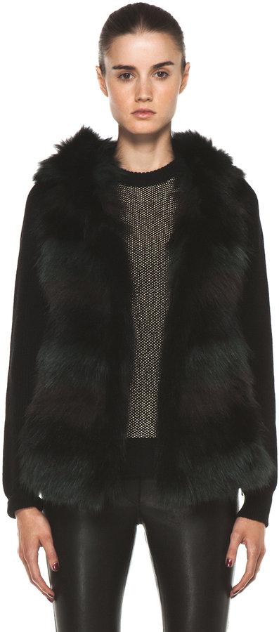Yves Salomon Multi Fur Vest in Multi