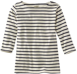 L.L. Bean L.L.Bean Women's French Sailor's Shirt, Three-Quarter-Sleeve Boatneck