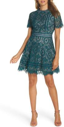 BB Dakota On List Scalloped Lace Dress