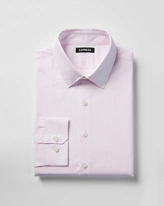 Express Slim Fit Striped Cotton Point Collar Dress Shirt