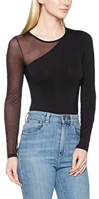 Pieces Women's PCHANNA Bodystocking FF Bodysuit, Black, (Size: Large)