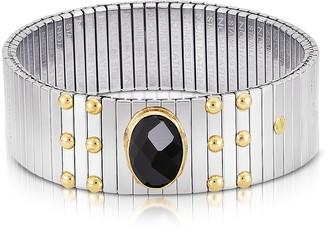 Nomination Single Black Cubic Zirconia Stainless Steel w/Golden Studs Women's Bracelet