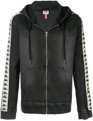 Kappa branded zipped hoodie