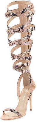 Giuseppe Zanotti for Jennifer Lopez Emme 105mm Gladiator Sandal $1,295 thestylecure.com