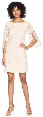 Vince Camuto Lace Shift Dress with Overlap Sleeves Women's Dress