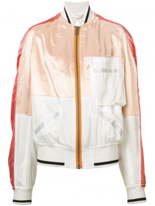 Haider Ackermann patched satin bomber jacket $1,630 thestylecure.com