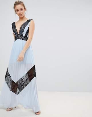 Glamorous Lace Insert Maxi Dress