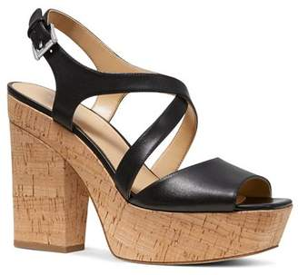 MICHAEL Michael Kors Women's Abbott Leather Platform Wedge Sandals - 100% Exclusive