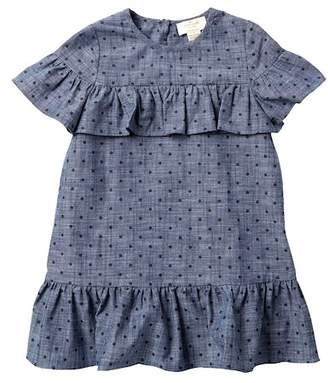 Kate Spade chambray ruffle dress (Toddler & Little Girls)