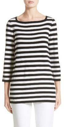 Women's Michael Kors Stripe Cashmere Tunic $795 thestylecure.com
