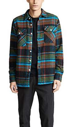 Obey Men's HOMEBOUND Flannel Woven Shirt