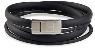 Ted Baker Mera Leather & Rubber Wrap Bracelet