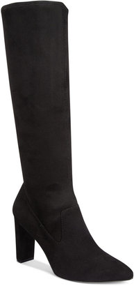 Adrienne Vittadini Nanni Pointed-Toe Tall Boots $129 thestylecure.com