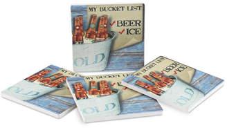 Thirstystone Bucket List 4-Pc. Coasters Set