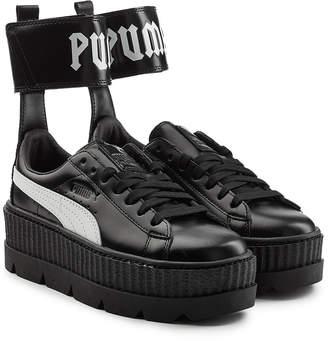 dbc49ea543f FENTY PUMA by Rihanna Ankle Strap Leather Creeper Sneakers